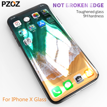 Buy Pzoz tempered glass iphone x 5D curved full cover iphone x iphonex screen protector protect toughened glass film glas for $9.59 in AliExpress store
