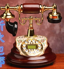 Quality fashion phone antique telephone/old fashioned household wired telephone/Caller ID Hands-free/backlit(China)
