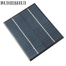 BUHESHUI 2Watt 18V Mini Solar Cell Polycrystalline Solar Panel DIY Solar Power Battery Charger 110*136MM 5pcs/lot Free Shipping(China)