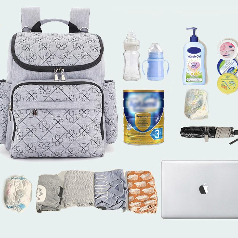 Diaper Bag Fashion Mummy Maternity Nappy Bag Brand Baby Travel Backpack Diaper Organizer Nursing Bag For Baby Stroller Wetbag (6)