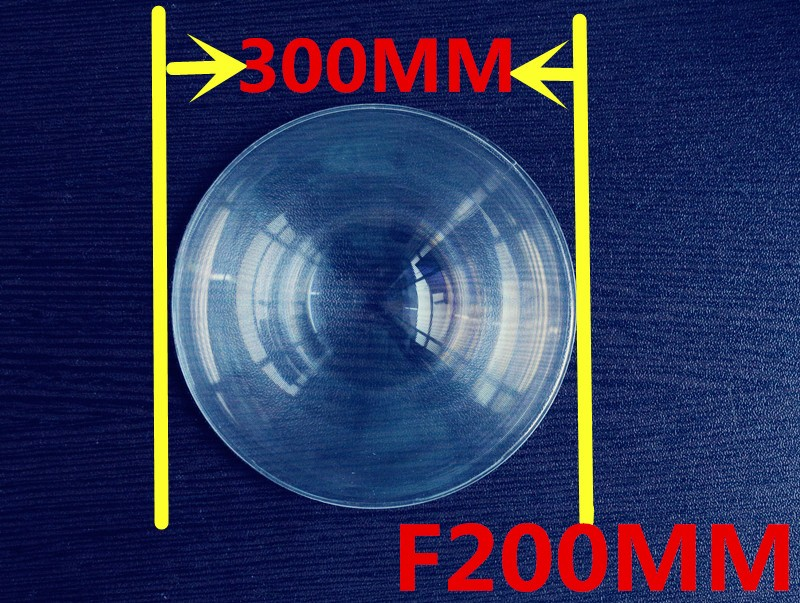 long Focal length 200mm Fresnel lens Diameter 300mm big size Round  Fresnel Lens thickness 2mm circle lens for DIY Free shipping<br>