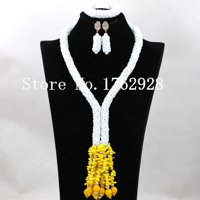 Handmade Crystal Braid Women Costume Jewelry Set African Jewelry Sets Statement Necklace Wedding Jewelry Set Free Shipping CA011