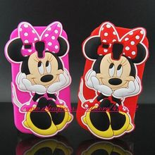 For samsung galaxy trend duos S7562 Cute 3D Hold Face Minnie Miceky Soft Silicon case for samsung galaxy s duos s7562 7562(China)
