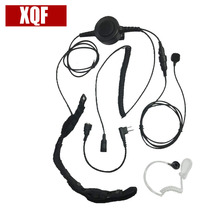 Bodyguard Flexible Throat Mic Microphone Large Armpit PTT Covert Acoustic Tube Earpiece For Motorola Radio EP450 GP2000 GP88(China)