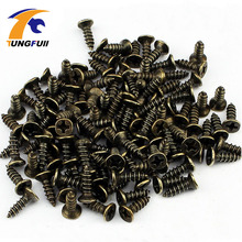 1000pcs M2*8mm Antique Hardware Accessories Bronze Color Philips Head Self-tapping Screws Nail Nut For Wood Box Furniture(China)