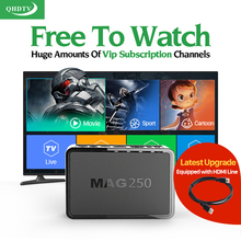 Mag 250 IPTV Box QHDTV Subscription IPTV Account Europe French Germany Arabic IPTV Channels Mag250 TV Box USB Wifi for Choose