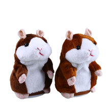 Free Shipping Talking Hamster Speak Talk Sound Record Repeat Stuffed Plush Child Toy(China)