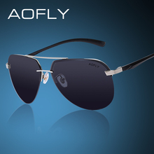 AOFLY Polarized Sunglasses Men Original Brand HD Polaroid Lens Reflective Coating Driving Sunglasses Vintage Male Google Eyewear(China)