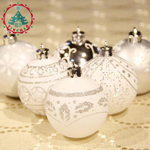inhoo 24pc Multicolor Theme Pack Ornaments for Tree 6cm Decor Ball Christmas Tree Ball Bauble Hanging Xmas Ornament Home Decor(China)