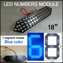 "12V led module, include 7segment, led gas price signs of parts,18""blue color digita numbers module,(China)"