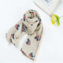 [ZHSHWJ] boys and girls scarves children's bibs spring and autumn new wild cotton scarf Mickey scarves wind scarves