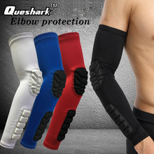 1PCS Elastic Gym Sports Elbow Pads Basketball Arm Sleeve Honeycomb Elbow Support Elbow Protector Guard Sports Safety(China)