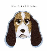 "Long ears dog embroidery patch 2.5""wide/  / cute/animal/life patch"