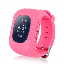 Excelvan Q50 Kids Smart watch with Built-in Microphone GPS LBS SOS Call Reminder Micro SIM Card Adjustable Wristband For Kids(China)