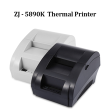 US Plug New Arrival ZJ - 5890K Mini 58mm Thermal Printer Manual POS Receipt Universal Ticket with USB Port Black and White