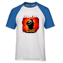 Green Day Kiss Color 21st Century Breakdown Black T Shirt New Official Punk Rock brand raglan t summer fashion tops