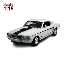 Maisto Ford 1968 Mustang COBRA JET 1:18 Alloy Car Model Toys Diecasts & Toy Vehicles Collection Kids Toys Gift