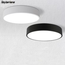 Ceiling Lights Ceiling Lamps LED Indoor Lighting Fixture Black/White Color Round Simple Decoration Dining Room Luminarias Lustre(China)