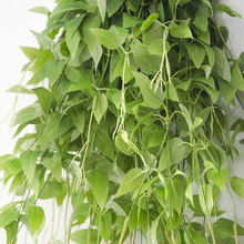 95cm Artificial Vine Leaves Hanging Clematis Plants Flowers For Garden Decoration Fake Ivy Vine Silk Green Rattan Garland Wall(China)