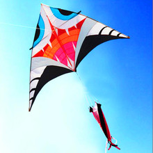 free shipping high quality 2.8m shark delta kite wheel ripstop nylon fabric kite for adult flying dragon animated kites bird toy