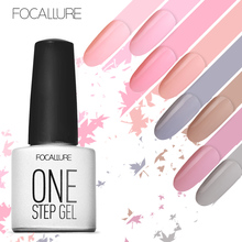 FOCALLURE One Step Gel 3 in 1 UV Nail Polish Nail Ar Gel Polish Soak Off Gel No Need Base Top(China)