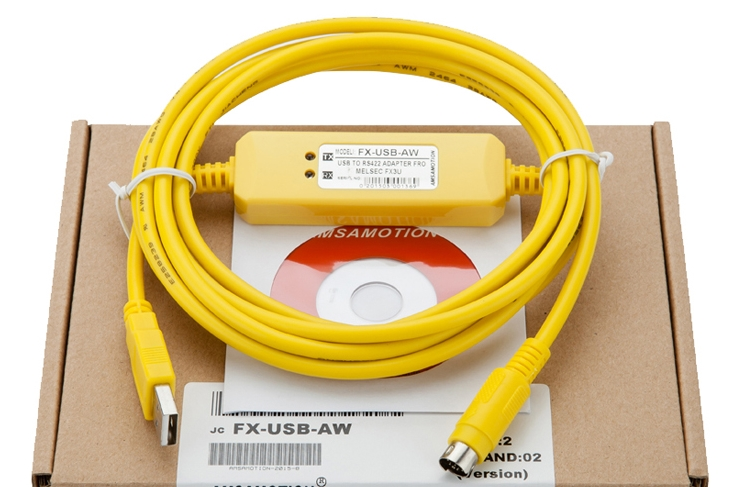 programming cable Mitsubishi FX3U series / data download cable FX-USB-AW USB TO RS422 ADAPTER Electronic Data Systems