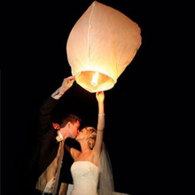 White Paper Chinese Sky Lanterns Wishing Lamp Balloon for Birthday Wedding Party DHL free shiping 100 pcs/lot usa #06(China)