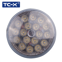 TC-X 1 pcs Par 36 Round LED Work Light  Ultra Bright with Lumileds Lamp LED Working Light 12V 24V Off Road 4X4 Tractor Truck
