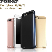 FGHGF Charger Case For iPhone 6 6G 6S 7 7G 4.7' External Battery Rechargeable Back Cover High Quality 2600mAh Powerbank Portable(China)