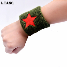 1PC Sports Wrist Support Dance Basketball Five-pointed Star Wrist Protector Absorb Sweat S461