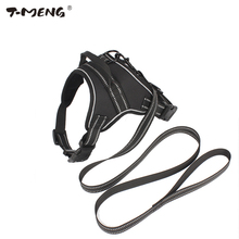 Nylon Dog Harness Vest Leash For Small Large Pets K9 Walk Out Reflective Pet Products Professional Dogs Collar Hand Chest Straps(China)