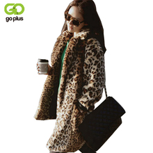 GOPLUS 2017 Winter Warm Women's Faux Fur Coat Natural Leopard Sexy Fur Coat Jacket O Neck Full Thicken Stylish Outwear C0859