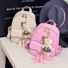 Children Kids Backpack School Bags Leather Princess Girl Travel Back Pack Schoolbags Cute Backpacks for teenager girls(China)