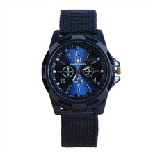 Summer Style Mens Boy Relojes Military Army Sports Watches Quartz Nylon Band Relogio Easy To Read Wrist Watch(China)