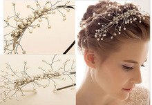 Elegant & Dignified Wedding Tiara Headbands Bridal Pearl Headdress Hair Jewelery Accessory Europe Style(China)