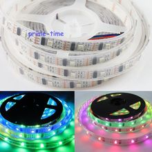 5M WS2801 32 IC Digital Addressable RGB Dream Color LED Strip, 160 LEDs 32Leds/M pixel White PCB IP67 Silicone Waterproof DC5V