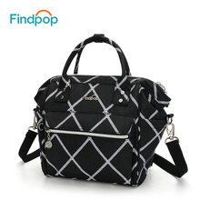 Findpop Multifunctional Women's Handbag Nylon Mini Crossbody Bags For Women Plaid Shoulder Bags 2017 Casual Black Crossbody Bags(China)