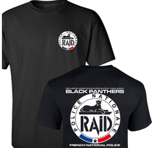 RAID FRENCH NATIONAL POLICE Men's T Shirt ANTI-TERRORISM UNIT GIGN SPECIAL Fashion Black T-shirts Printing Cotton Top Tees