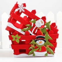 Christmas Candy Basket New Year Eve Apple Gift Basket Ornament Fruit Hollow Box Xmas Decorations For Home Party Supplies 3(China)