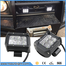2pcs 4 inch 18W Led Work Light Pods Car LED Work Off Road Light 4x4 Headlght SUV Truck Spot Flood Beam 4WD Pickup SUV DC 9~32V(China)