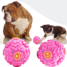 1 PC Pet Big Ball Toy Dog Cat Play Squeaky Squeaker Quack Sound Chew Black,Blue,Rose Red Ball Diameter 12cm(China)