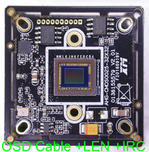 "AHD-M (720P) 1/3"" Sony Exmor CMOS IMX225 image sensor + NVP2431 / XM531 CCTV camera module PCB board +OSD cable +3MP CS LEN +IRC(China)"
