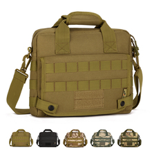 "Multifunction Tactics Shoulder Bags Nylon Camo Climbing Travel Camping Hunting Outdoor MOLLE 10"" Tablet PC pack(China)"
