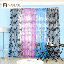organza window curtains readymade sheer curtain panels tulle short curtain square modern simple design curtains for living room(China)