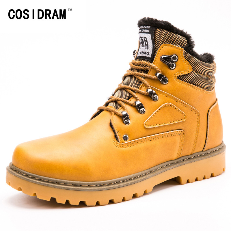 New Winter Shoes Men Boots With Fur Fashion Martin...