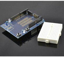 10pcs LED Prototype Shield Expansion board with SYB-170 mini breadboard based For Arduino Duemilanove UNO