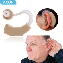 AXON Digital Hearing Aids Invisible Mini Hearing Aid Portable Sound Amplifier Ear Care With Batteries Earplugs Sound Adjustable