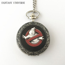 FANTASY UNIVERSE Freeshipping wholesale 20pc a lot Ghostbusters pocket watch Necklace Dia4.7CM CROPGH021
