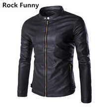 New Fashion PU Leather Jacket Men Black Brown Solid Mens Cowskin Leather Coats Slim Fit Youth Motorcycle Suede Jacket Male(China)