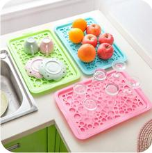 Kitchen Creative multifunction Drain tray Hollow fruit vegetable dish tray draining plate storage rack shelving rack drain board(China)